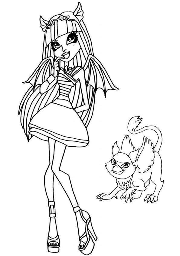 Rochelle Goyle und Maskottchen