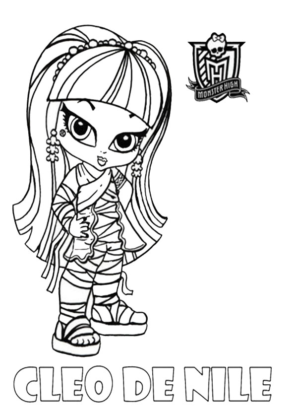malvorlagen cleo de nile monster high babys