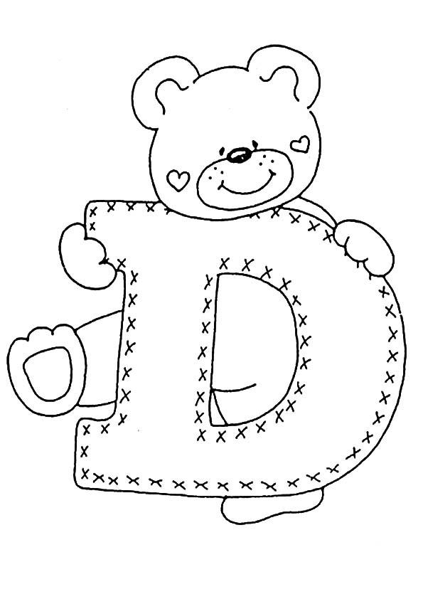 ausmalbilder Buchstaben D
