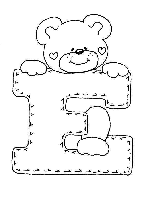 ausmalbilder Buchstaben E