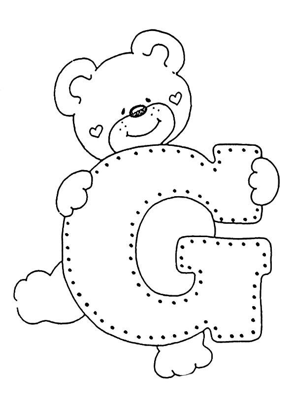 ausmalbilder Buchstaben G