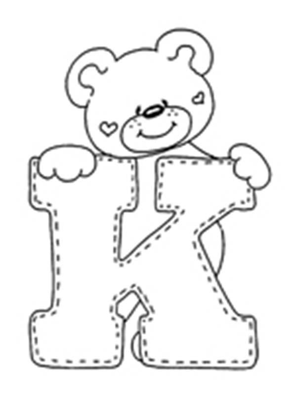 ausmalbilder Buchstaben K