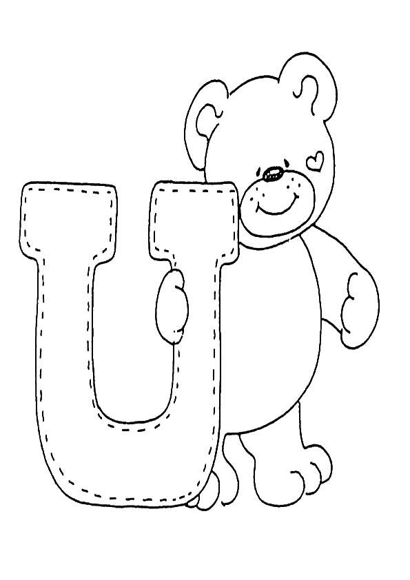 Buchstaben U ausmalen