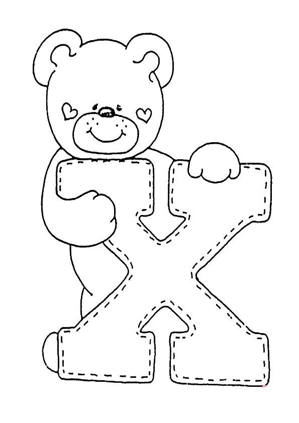 buchstaben X ausmalen