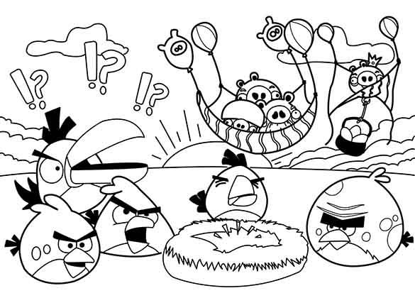 Ausmalbilder Angry Birds 11: Angry Birds Space Malvorlagen 13