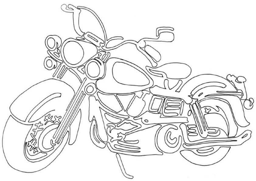 motorrad sanglas ausmalen