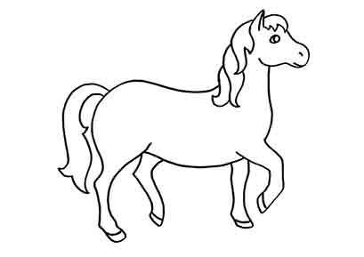 Pferd malvorlagen