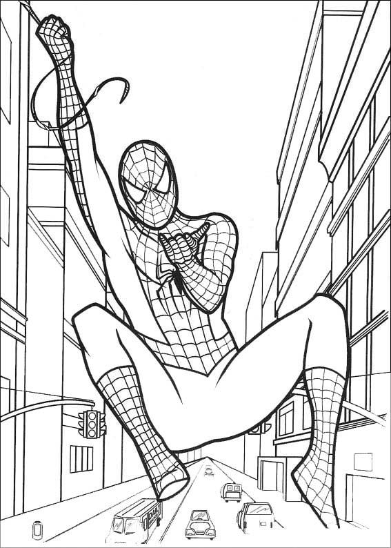 spiderman die Straßen