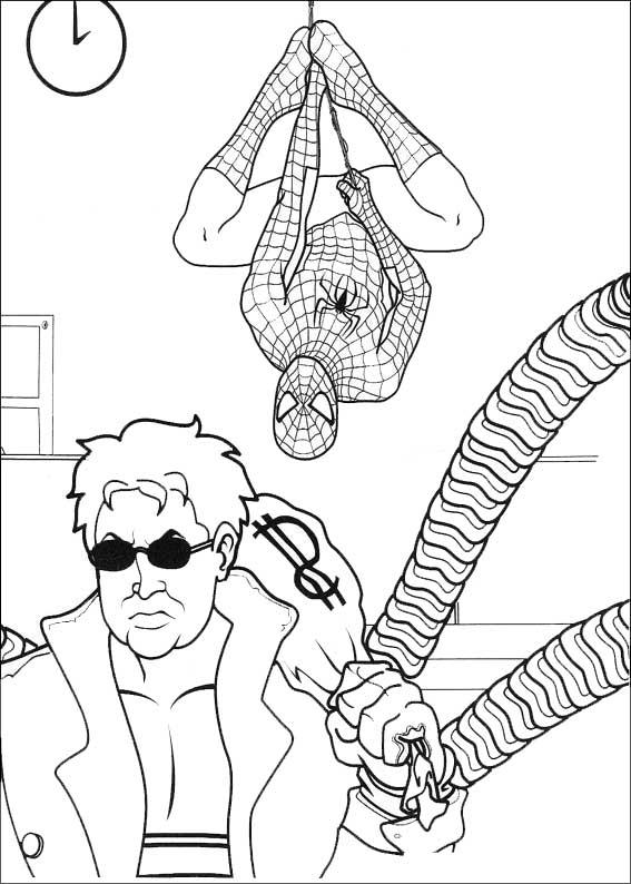 spiderman beobachten einen Banditen