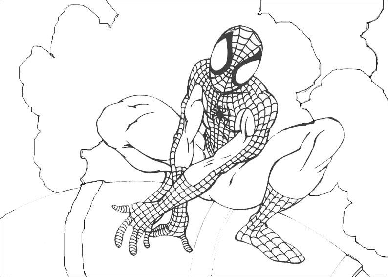 spiderman in einem Gebäude
