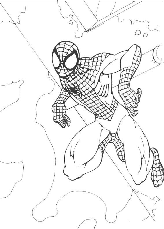spiderman klebte an der Decke