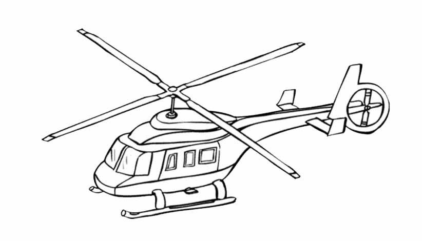 Hubschrauber 2 ausdrucken