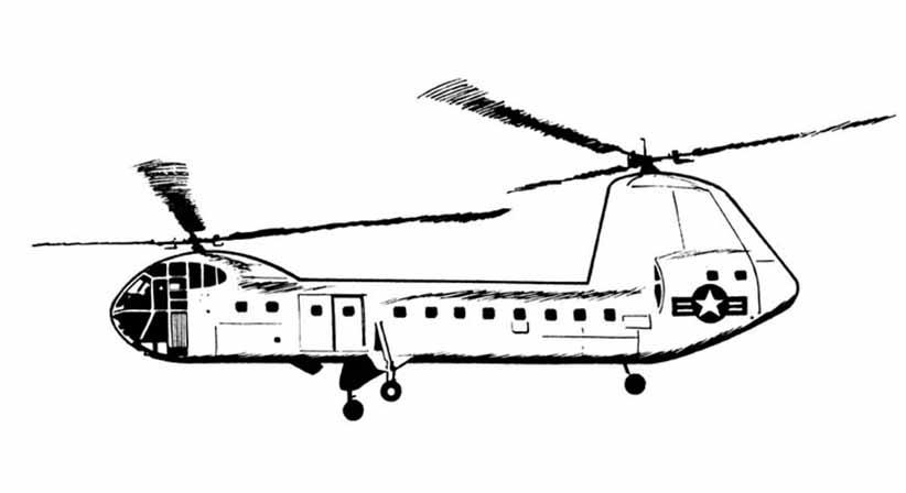 Hubschrauber 3 ausmalbilder