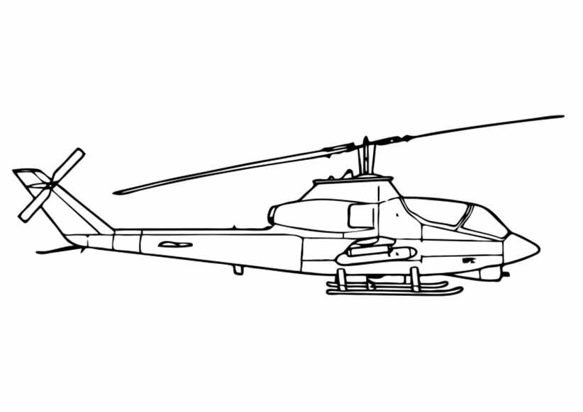 Ausmalbilder Hubschrauber 04 Ausmalbilder