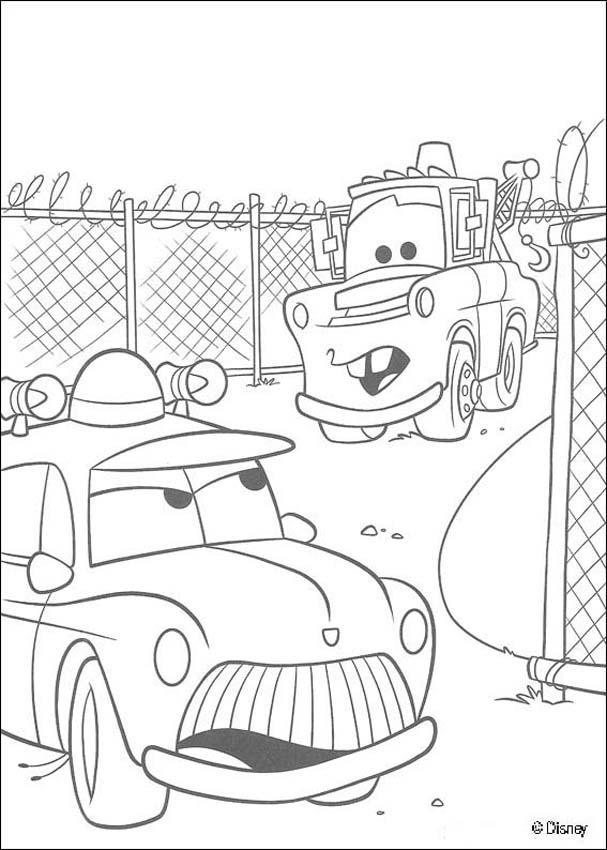 malvorlagen cars ausdrucken