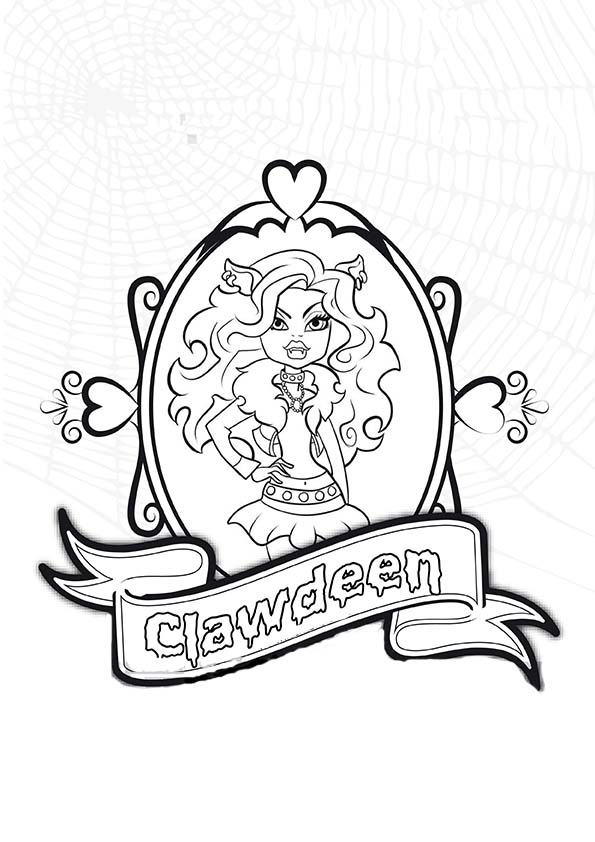 Clawdeen von Monster High ausmalen