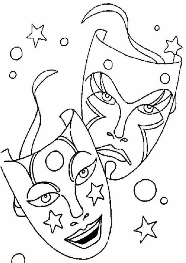 zwei Karnevalsschablonen malvorlagen