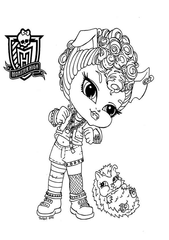 ausmalbilder monster high 23