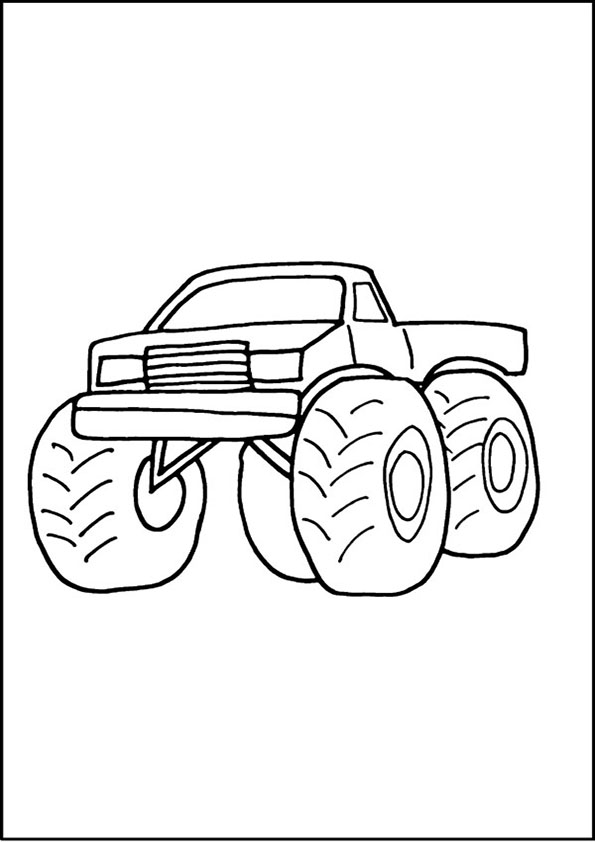 monstertruck malvorlagen