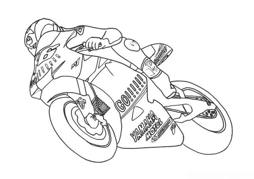 malvorlagen motorrad racing