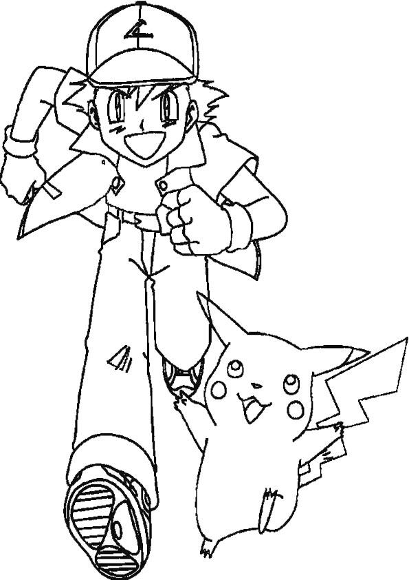 pikachu und ash ausmalen
