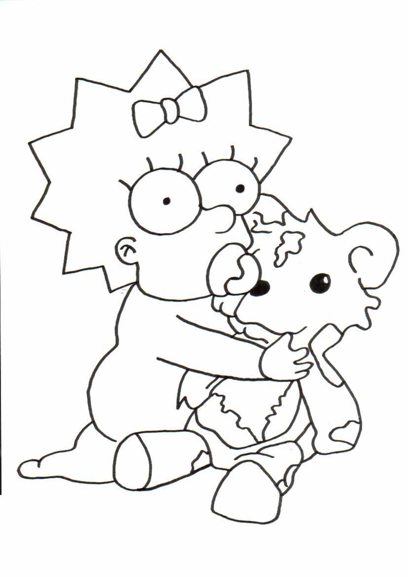 maggie von simpsons malvorlagen