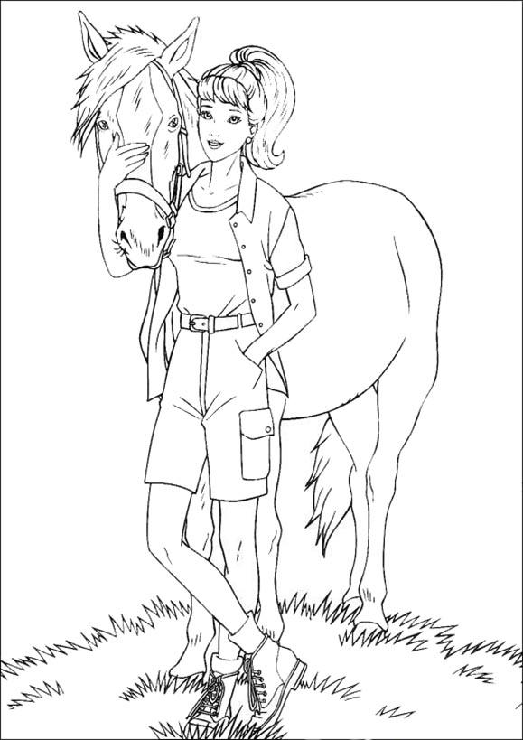 Barbie mit ihrem Pferd