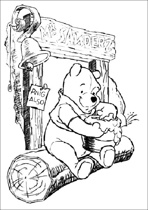 Winnie the pooh ausdrucken undausmalen