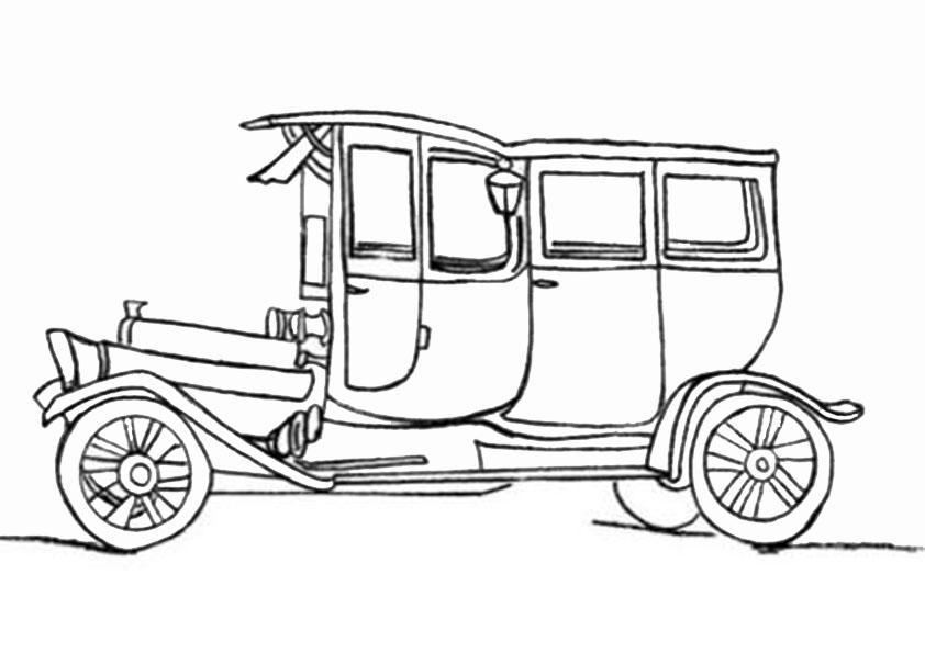 malvorlagen klassisches Auto