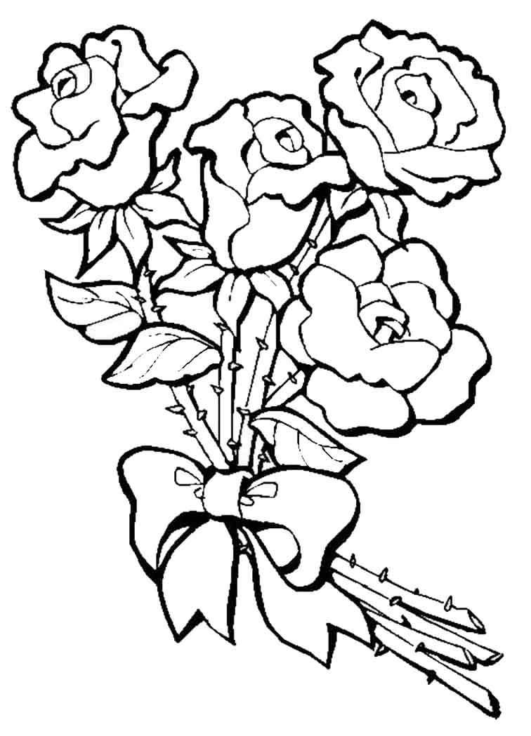 Ausmalbilder Blumenstrauß Geburtstag : Ausmalbilder Blumen 3 Ausmalbilder