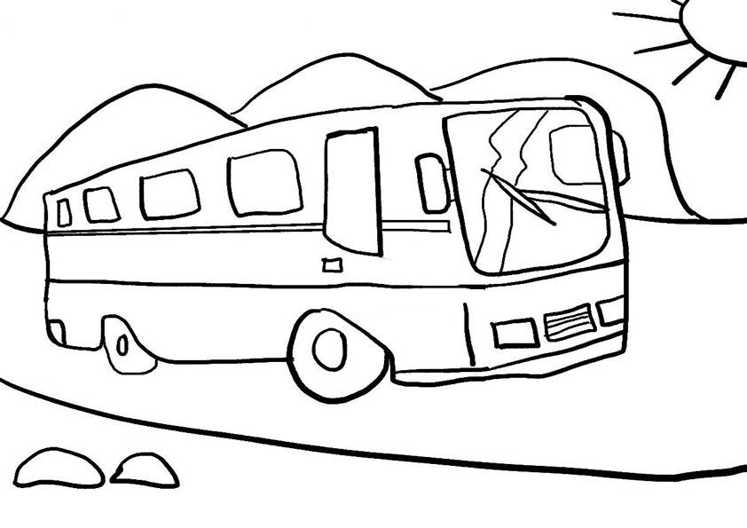 Malvorlagen Bus 01 | Ausmalbilder
