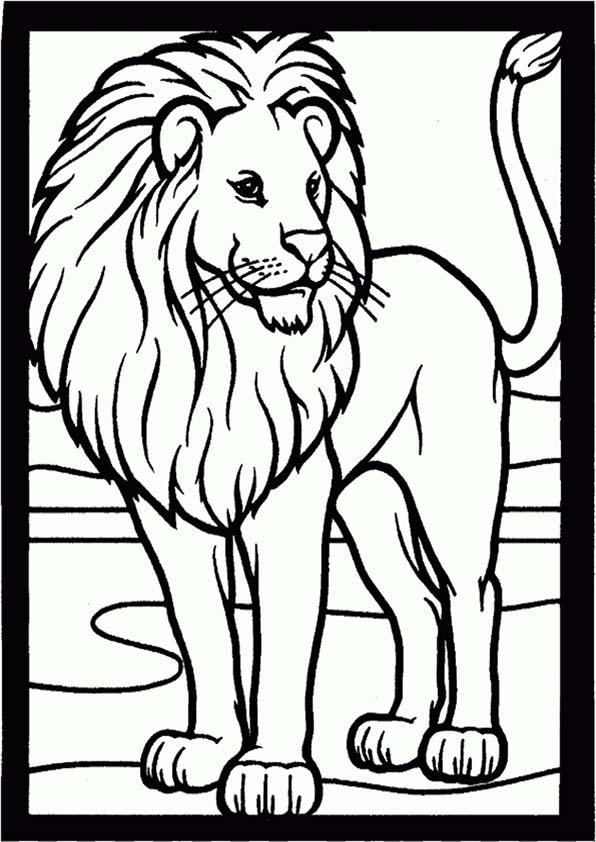 ausmalbilder leon