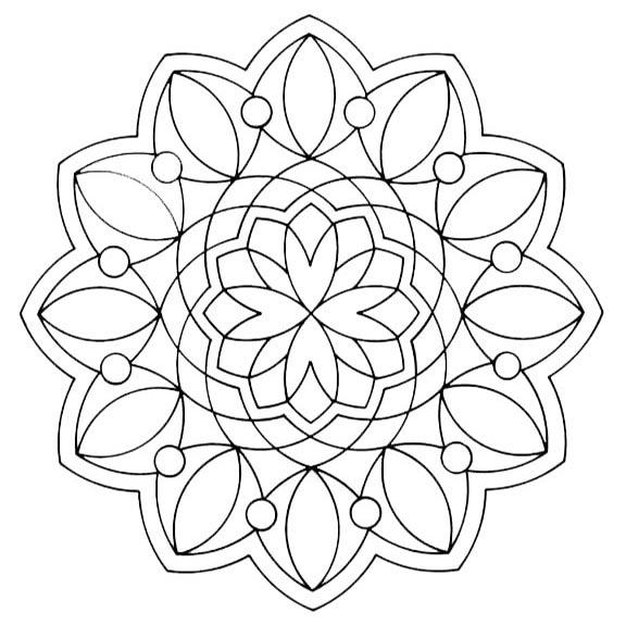 mandala für ausmalen