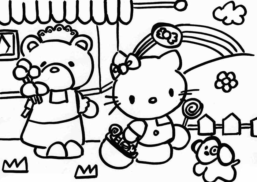 Ausmalbilder Hello Kitty 19 Ausmalbilder