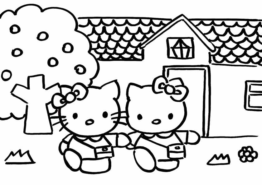 hello kitty und schwester