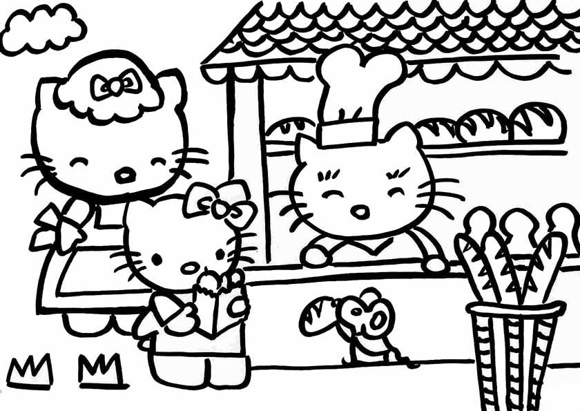 Hello Kitty mit Süßigkeiten