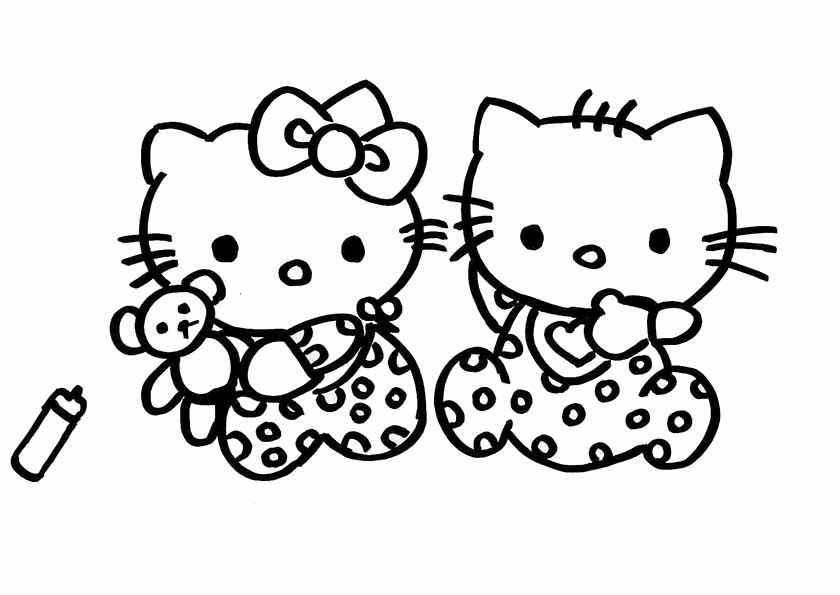 hello kitty ausdrucken und ausmalen