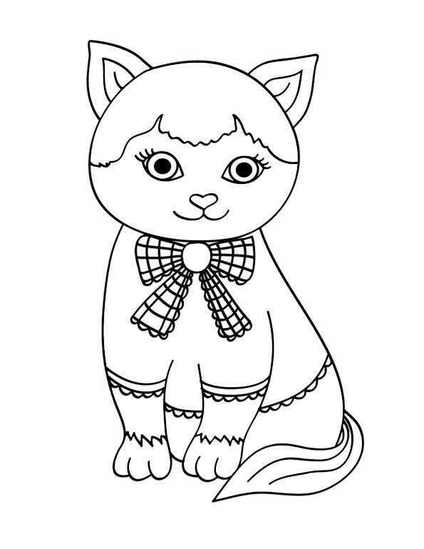 Katze mit der Schlinge