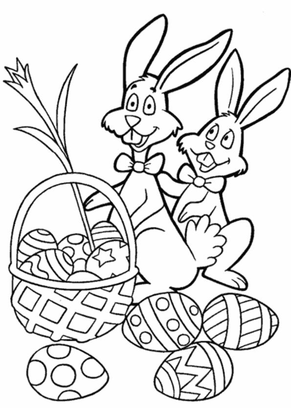 Kaninchen mit Osterei