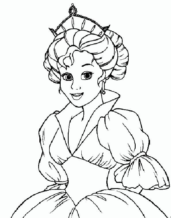 Prinzessin 12 ausmalen