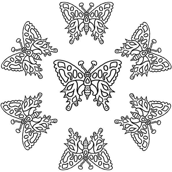 mandala von Schmetterling