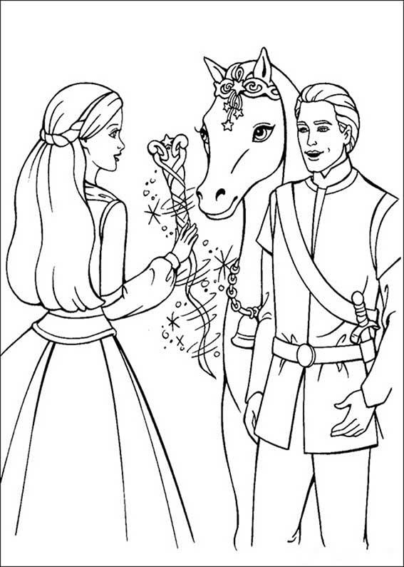 barbie, ken und pferde