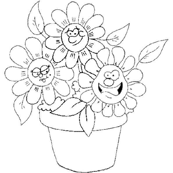 Topfblumen ausmalen