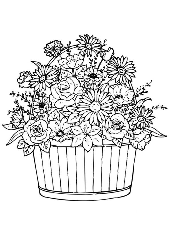Ausmalbilder Blumen 18 Ausmalbilder