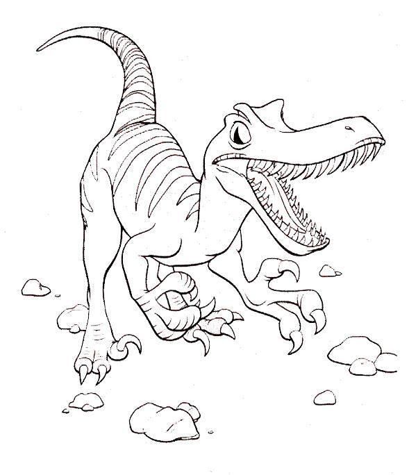 dinosaurier 2 ausmalen
