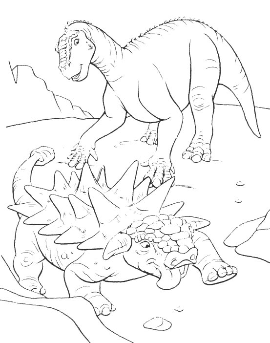 dinosaurier 8 ausmalen