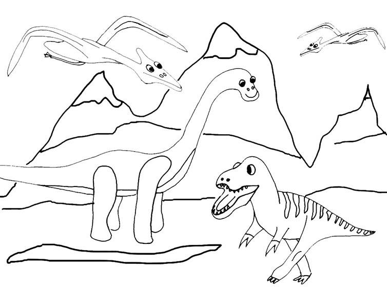 dinosaurier 12 ausmalen