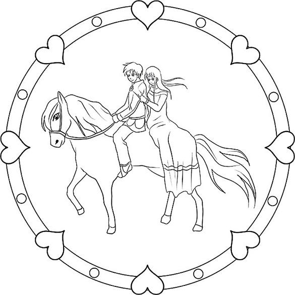 pferd im mandala ausmalen