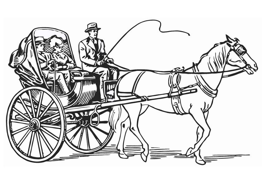 pferd und kutsche ausmalen