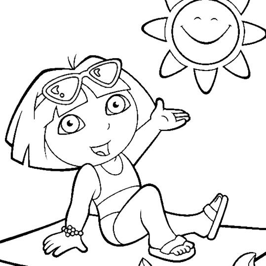 Ausmalbilder Dora 22 | Ausmalbilder